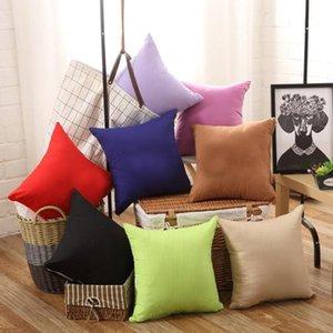 Étui de taie d'oreiller en couleurs purs 45 * 45cm Coussin de coussin de bureau Chaise de bureau Canapé Jet d'oreiller Home Wedding anniversaire cadeau DHF3646
