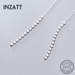 Dangle & Chandelier INZAReal 925 Sterling Silver Tassel Drop Earrings For Elegant Women Party Fine Jewelry Fashion Minimalist Accessories Gi