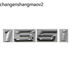 Krom Parlak Gümüş ABS Numarası Mektuplar Kelimeler Araba Trunk Rozeti Amblemi Mektubu Çıkartması Sticker BMW 1 Serisi 135i