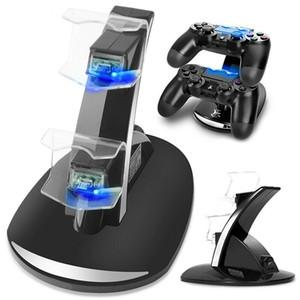 شاحن تحكم Dock LED المزدوج USB PS4 شحن موقف محطة مهد لسوني بلاي ستيشن 4 PS4 / PS4 Pro / PS4 Slim Controller