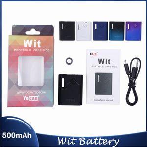 Аутентичные yocan wit box mod 500mah Предварительно нагревая VV Vape аккумуляторные моды USB зарядное устройство набор для 510 толстых картриджа картриджа тележки