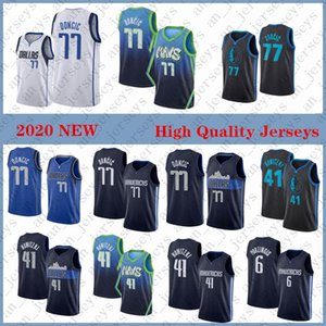Dallas.Maverick Men Luka Doncic Dirk Nowitzki Kristaps Porzingis 2020 Jersey Basquetebol Stitched S-XXL Stock