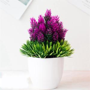 محاكاة بوتاني بوعاء النباتات البلاستيكية النباتات الخضراء زهور الصنوبر إبر الأناناس سطح المكتب potting مع نمط مختلف 2 6HQ J1