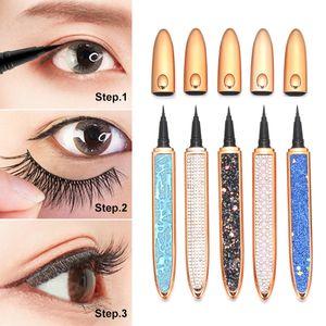 Self-adhesive Eyeliner Pen Glue-free Magnetic-free for False Eyelashes Waterproof Long Lasting Eye Liner Pencil
