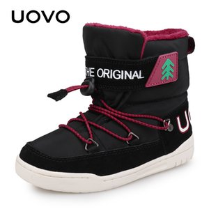 Winter Snow Boots Kids 2020 UOVO New Arrival Fashion Children Warm Boots Boys and Girls Shoes With Plush Lining #29-37 Y1117