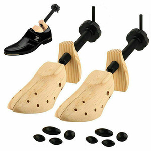 Rantion Shoe Stretcher Men Women Wooden Shoes 1 Piece Tree Shaper Rack Wood Adjustable Flats Pumps Boots Expander Trees S M L Y1128
