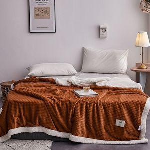 Thicken Winter Velvet Cashmere Blanket With Zipper Warm Soft Flannel Comforter Duvet Cover Home Textile Bedding 200*230cm