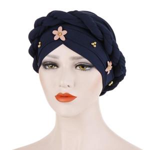 Fashion Muslim Hijab Women Turban Hat Braid Knot Lady Head Scarf Hijab Muslim Inner for Women Hair Accessories Hair Loss