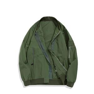 2020 SS Konng gonng Nouveau printemps et automne réfléchissant Veste d'air décontracté de mode de marque trench-manteau de marque de la marque de réflexion sur le dos