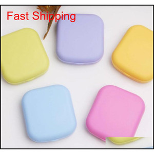 Portable Cute Pocket Mini Contact Lens Case Mirror Container Contact Lenses Case Box For Eyes Care Kit Holder Glasses Case L034 Hzgbr