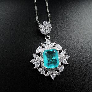925 Sterling Silver Paraiba Tourmaline Gemstone Necklace Earrings Ring Dubai Jewelry Sets Fine Jewelry Drop Shipping