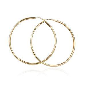 Big Earring Basketball Big Tube Round Earrings Punk Jewelry Super Hoop Earrings for Women 12CM