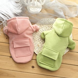 Pet Dog Clothes Fashion Hooded Sweater Winter Warm Dog's Coat Cute Trendy Sweatshirt Outerwears DHL Free Shipping