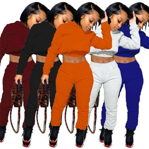 Women Fall Winter Sweat Suits 2 Piece Set Designer Tracksuits Brand Casual Jogger Suits long sleeve sportswear hoodies+capris outfits 3936