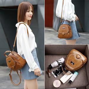 2020 летние новые ретро одно плечо прозвучало маленькая квадратная сумка женская сумка багетки мини-рюкзак Q1119