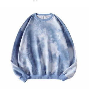 Couple Oversized Streetwear Hoodies 2020 Autumn Men Harajuku Korean Style Sweatshirts Hoodie Tie Dye Hoodie