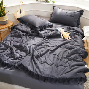 Quilt Set 4pcs With 1 Quilt 2 Pillowcase 1 Sheet Twin To Super King Size Coverlet Bed Set 4 Pcs Stylish Summer Blanket