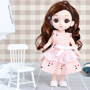 Ins Wind Online Celebrity Cake Ornaments Vinyl 16 cm Doll Doll Dress Bambola Giunch Girl BJD Doll