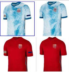 20 21 # Ødegaard 10 Soccer Jerseys 2021 Home Rosso # 23 Haaland Nation Team Soccer Camicia Sørloth Ødegaard Berge Football Uniforms