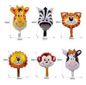 Fengrise 6pcs Lot Cute Jungle Party Animal Balloons Lion Monkey Deer Helium Baloon Birthday Party Decoration Kids Favors Ballon bbyoCK