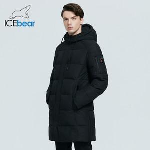 Icebear 2020 Новые Зимы Высокое Качество Мужчины Jas Winddicht Теплый Парк с капюшоном MWD20933i