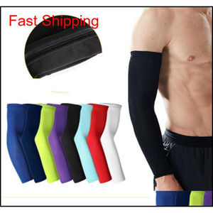 8 Colors Basketball Arm Guards Lengthen Elbow Protective Gear Sports Riding Fitness Arm Warmers Running Breathable Sunscreen Sleeves 0Yxwe