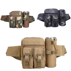 Men's Waist Belt Bag Outdoor Tactical Fanny Pack with Water Bottle Holder for Hiking Jogging Running Cool Waist Packs