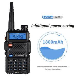 Baofeng UV-5R UV5R Walkie Talkie Banda Dupla 136-174MHz 400-520MHz de duas vias Transceptor de rádio com 1800mAh Battery Free Fone de ouvido (BF-UV5R)