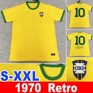 1970 retro Pelé PELE BREZİLYA BREZİLYA 10. Pele KLASİK Carlos Romario  Futbol Jersey XXL camisa de futebol Retro 1998 bele 1970 formaları