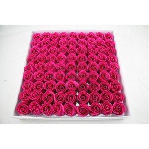81 stücke simulation rose floral bad seife duftende künstliche blume hochzeit valentinstag geschenk hochzeit dekorationen party dekoration 127 k2