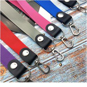10pcs lot Short Colorful Hand Wrist Lanyard Neck Strap For Mp3 4 Usb Flash Drive Keychain Id Badge Holder Mobile Phone jllhfN