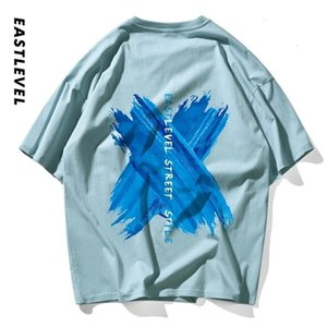 Ete summer new top men's T-shirt 2020 trendy watercolor printed round neck cotton loose couple Short Sleeve Tee7S6CHW86ESZY