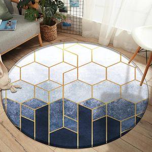 Customized Bedroom Decor 3D Carpets European Style 3D Multicolor Geometric Pattern Non-slip Flannel Rugs for Living Room Carpet