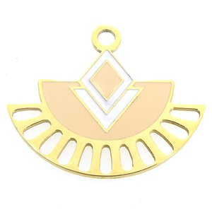 Miasol 20*25MM Gold Color Plating 316L Stainless Steel Enamel Peacock Charms Pendants Pendulum With Star For Diy Jewelry Making