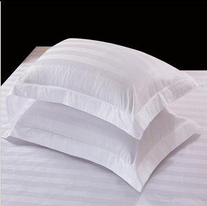 New Design 100% Cotton Square Pillow Case Classice White Stripe Pillow Cover Home Bedroom Hotel Bedding Pillowcase Pillow GWC3939