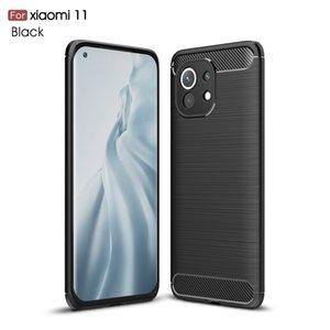 Kohlefaser-TPU-Handy-Fälle für Xiaomi Mi 11 10t Lite Pro Anmerkung 10 Google Pixel 4A 5G 5 Gebürstetes Design-Fall
