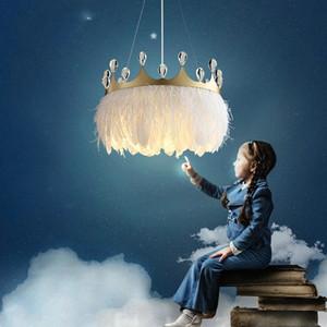 2021 Современная светодиодная люстра Nordic Luxury Crystal Round Croplight Детская комната люстра Спальня Люстра Интерьерное освещение