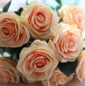 Simulation Silk Rose Bouquet 10 Heads Artificial Rose Valentine Day Festival Wedding Home Living Room Decoration Flowers