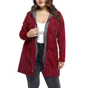 Fashion Winter Loose Office Jackets Women Coats Hoodies Solid Windbreaker Sleeve Outwear Female Jacket Long Coat