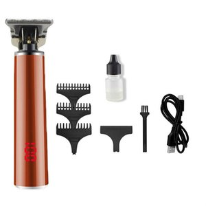 T9 Hair Trimmer Barber Haircut Rechargeable Hair Clipper Cordless Men Hair Cutting Machine Beard Trimmer 0mm Razor Shaver 02