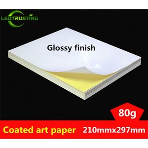 Leotrusting 50sheets Size 210mmx297mm White Blank Glossy & Matt Sticker Label Printing Paper A4 Adhesive Stickers Q1114