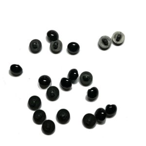 New 100 Pcs Black Resin Buttons Round Mushroom Domed Sewing Shank Black Diy Animal Eyes Toy Diy Decorative Buttons jllxyZ