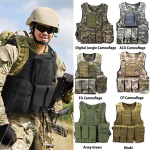 Usmc Airsoft Cs Military Tactical Vest Molle Combat Assault Plate Carrier Tactical Vest Outdoor Clothing Hunting Vest Y201123
