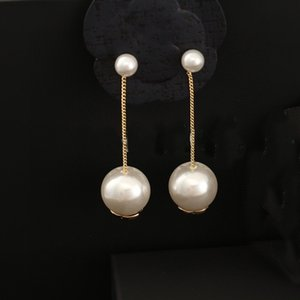Classic Pearl Pendant Earrings Fashion Earrings for Woman High Quality S925 Silver Pin Earrings Gold-plated Jewelry Supply