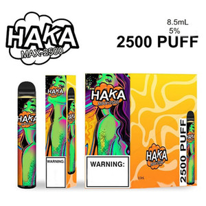 Original HAKA MAX DISPOSABLE Pod Device Kits 2500 Puffs 1350mAh Battery Prefilled 8.5ml Cartridge Vape Empty Pen Authentic VS Bar Plus XXL