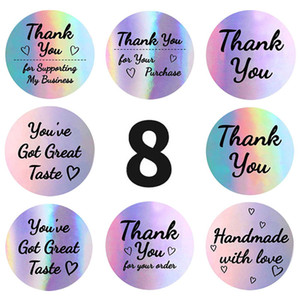 1.5inch Thank You Label Adhesive Stickers 500pcs for Wedding Gift Card Business Packaging Stationery Envelope