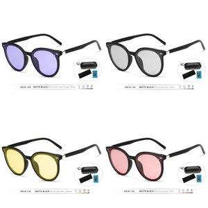 Dropshipping Mujeres Veithdia No Marca Gafas de sol Polarizadas UV400 Vintage Día Noche Dual Sun Gafas Mujer J1211