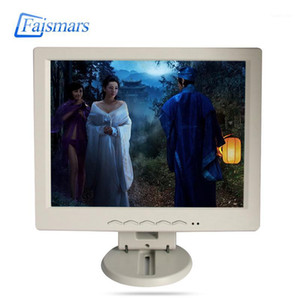 CCTV Faismars Factory Price 10.4 12.1 Inch Milk White Plastic Frame LCD Monitors Remote control Computer Monitoring BNC Displays1