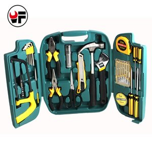 27 stücke Holzbearbeitungswerkzeug Set Schraubendreher Set Messer Reparaturwerkzeuge Set Kit in einem Koffer für Home Hand Werkzeugkästen Instrumente DN107 Y200321