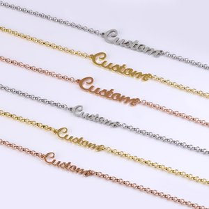 Lateefah Custom Letters Nameplate Chain Bracelet Fashion Personality Stainless Steel Wrist Chain For Women DIY Jewelry Making Z1124